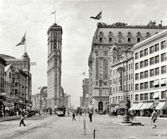 The old New York Times building, now encased in billboards, Hotel Astor and various theaters seen from Broadway