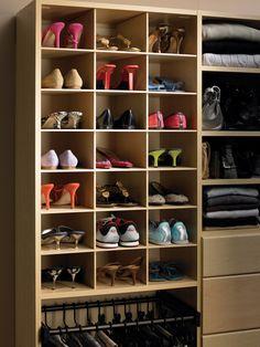 California Closets DFW Shoe Storage   Maxi Bins Closet Shoe Storage, Closet  Storage Systems,