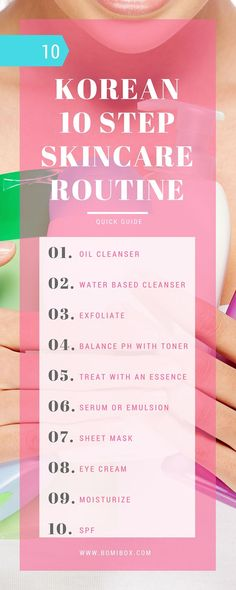 KOREAN 10 STEP SKINCARE ROUTINE - QUICK GUIDE
