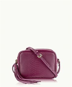 ad8237785 Mulberry Madison Crossbody | Mulberry Embossed Python Leather | GiGi New  York Zipper Pulls, Python
