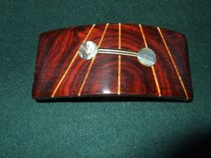 Wood Wooden Barrette Hairclip Coco Bolo medium by Thingsinwood18, $44.00