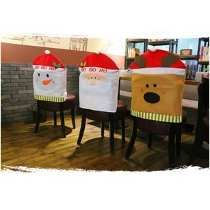 Christmas Decoration Supplies Snowman Elk Santa Design Chair Covers Home Dining Table Chair Ornaments Christmas Colors, Christmas Snowman, Christmas Crafts, Christmas Decorations, Christmas Ornaments, Chair Back Covers, Chair Backs, Christmas Chair Covers, Christmas Wine Bottles
