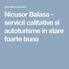 Nicusor Balasa - servicii calitative si autoturisme in stare foarte buna