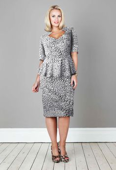 Anna Scholz - Print Peplum Dress plus size... I love this!