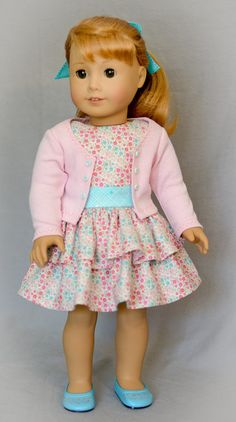 1950s Easter Dress and Sweater by AnnasGirls on Etsy