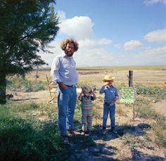 // Donald Judd, Rainer Judd, Flavin Judd in Marfa, Texas