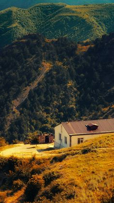 Karabakh Armenia Nature With Mountain House Fall iPhone 6 wallpaper