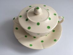 T.G.Green 'Polka Dot' Lidded Soup Bowl in the green colourway
