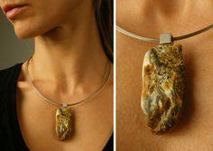 Amber Pendant, Silver 925 NEW, UNIQUE von JewellryWithSoul auf Etsy