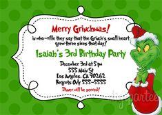 Grinch Birthday Party Invitation