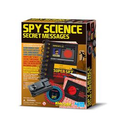 Spy Science Secret Messages and thousands more of the very best toys at Fat Brain Toys. So many good spy things included - sleuthing never played better. Eight useful spy tools included; many top secret techniques revealed. Spy Tools, Kit Games, Kids Magnets, Spy Gear, Science Toys, Spy Gadgets, Secret Code, Page Marker, Super Secret