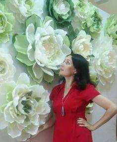 flores gigantes en papel crepé / eventos / fiestas