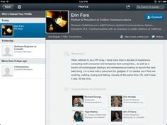 LinkedIn iPad App - Who has viewed your profile