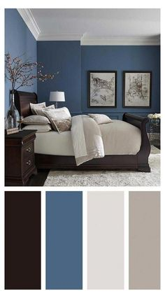 Modern Master Bedroom Paint Color Best Of 36 Modern Blue Master Bedroom Ideas Masterbedroom Home Decor Bedroom, Bedroom Paint Colors, Bedroom Orange, Master Bedrooms Decor, Master Bedroom Paint, Bedroom Color Schemes, Simple Bedroom, Blue Master Bedroom, Luxurious Bedrooms