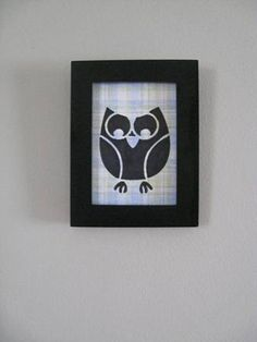 Black Framed Owl Drawing wood frame black by CampbellsCreation