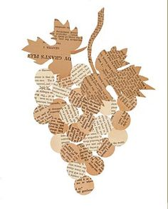 Paper grapes Valentine Crafts For Kids, Fathers Day Crafts, Paper Crafts For Kids, Autumn Crafts, Autumn Art, Thanksgiving Crafts, Origami, Crafts For Seniors, Newspaper Crafts