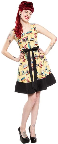PAPERDOLL CLASSIC DRESS BOWLING:  Cotton blend  $82