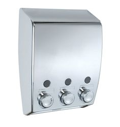 Soap Dispenser 3 Chamber Chrome Bathroom Wall Kitchen Toilet Shapoo Shower Gel in Home, Furniture & DIY, Bath, Soap Dishes & Dispensers | eBay