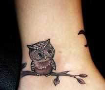 Inspiring picture chic, cute, owl, tattoo. Resolution: 500x619 px. Find the picture to your taste!