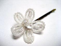 Beaded Flower Hairpin