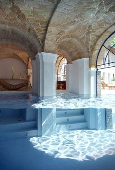 nice basement pool but i would get it deep enough to scuba-dive.