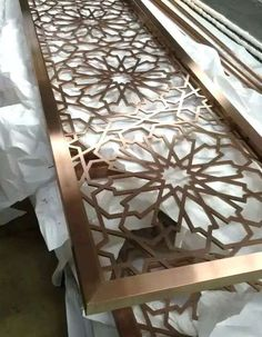 Ideas For Laser Cut Metal Screen Ideas Laser Cut Screens, Laser Cut Panels, Laser Cut Metal, Laser Cutting, Cnc Cutting Design, Partition Screen, Room Divider Screen, Partition Design, Railing Design