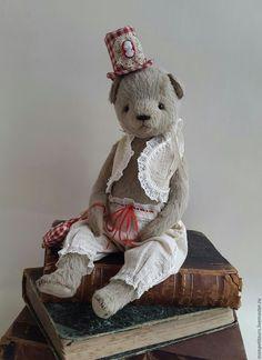 Лола - бежевый, тедди, мишка тедди, Тедди ручной работы, винтажный мишка