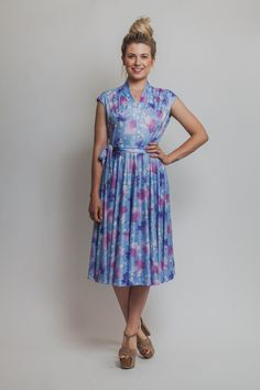 70s floral dress Vintage DISCO 1970s twirl flower by Raxclothing, $36.00