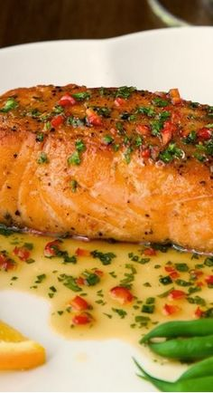 Pan Seared Salmon ~ with Sweet Spicy Coconut Sauce (little too sweet though…
