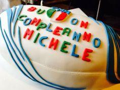 cake 3D - torta compleanno PALLONE RUGBY ITALIA  pan di spagna farcita con crema pasticcera e scaglie di cioccolato fondente - italian food, love Italy - from HAngry Bakery