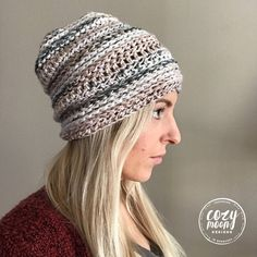 Crochet Pattern // The Linden Beanie // Hat image 7 Stitch Patterns, Crochet Patterns, Beanie Pattern, Beanie Hats, Crochet Hooks, Knitted Hats, Knitting, Etsy, Image