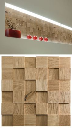 Modular wooden 3D Wall Cladding for interior MOSAICI D'ASOLO 3D by CP Parquet. #wood, #wall