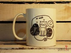 "taza gato ""mi mundo"""