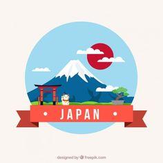 Japan Vectors, Photos and PSD files Japan Illustration, Graphic Design Illustration, Japan Design, Japan Highlights, Japan Icon, Design Japonais, Monte Fuji, Asian Artwork, Aesthetic Japan