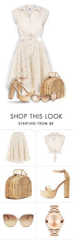 """Summer outfit!"" by asia-12 ❤ liked on Polyvore featuring Somerset by Alice Temperley, H! by Henry Holland, Kayu, Charlotte Russe, Linda Farrow, Movado and Lana"
