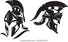 Sparta Soldier, Spartanischer Helm, Stencil Art, Stencils, Warrior Tattoos, Logo Sign, Anubis, Ancient Greece, Wood Carving