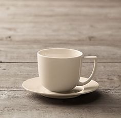 VARDAGEN Coffee cup and saucer off white 5 oz
