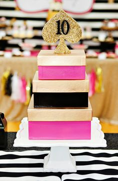 Glitzy & GLAMorous Kate Spade Inspired Pool Party // Hostess with the Mostess® Kate Spade Cake, Kate Spade Party, 18th Birthday Party Themes, Girl Birthday, 10th Birthday, Birthday Cakes, Birthday Ideas, Birthday Celebrations, Sweet 16