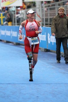THERE ARE NO EXCUSES.  Kimberly Fawcett.  Canadian Para-Athlete and Thriathlete.
