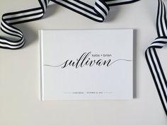 Invitado libro - libro de visitas de la boda - libro de visitas personalizado personalizado de boda para requisitos particulares y negro libro de visitas - libro de fotos de boda