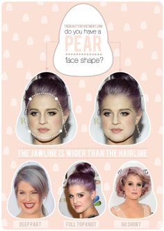 HAIR TALK: Tips + Tricks for a Pear Face Shape! xo