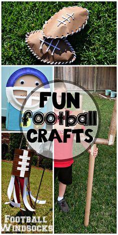 Football Crafts for Kids to Make #SuperBowl art projects | CraftyMorning.com Crafts For Kids To Make, Projects For Kids, Art For Kids, Art Projects, Kids Crafts, Summer Crafts, Toddler Crafts, Sports Art, Kids Sports