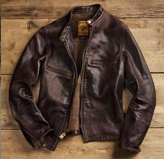 Schott NYC for Restoration Hardware - Vintaged Cafe Racer Motorcycle Jacket
