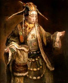 Gods and Foolish Grandeur: Tang Wei Min - selected paintings