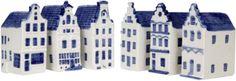 DELFTS BLAUW GRACHTENHUIS ASSORTI 13x9 CM | Holland Souvenir