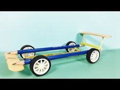 How to make car using rubber bands - YouTube