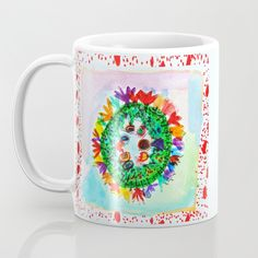 Buy FLOWER CROWN Mug by Azima. Worldwide shipping available at Society6.com. Just one of millions of high quality products available. Buy Flowers, Face Design, Store Design, Flower Crown, Cool Things To Buy, Coffee Mugs, Throw Pillows, Art Prints, Wall Art