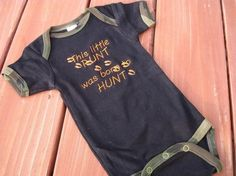 Embroidered Deer Hunting Camo Onesies  Embroidered by BabyBears, $18.50