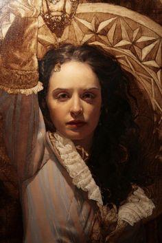 Artist: Arantzazu Martinez (b. oil on linen {figurative art… Portraits, Portrait Art, August Sander, Figurative Kunst, Albert Bierstadt, Academic Art, Art Japonais, Classic Paintings, Painting Art