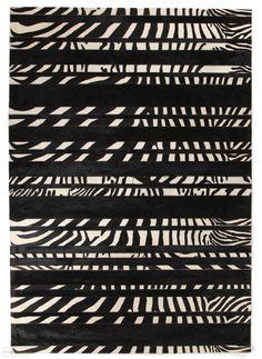 Zebra Crossing, Natural Flooring, Black Rug, Leather Design, Modern Rugs, Cool Rugs, Cowhide Leather, Rugs Online, Animal Print Rug